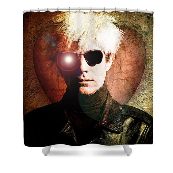 Andys Love Shower Curtain Fine Art America Andy Warhol Fine Art