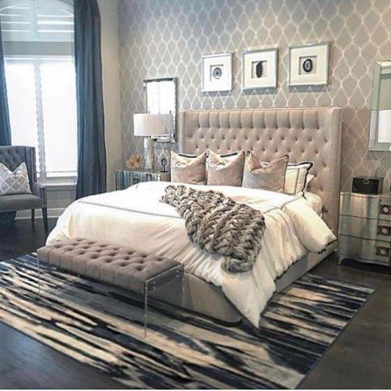 Bedroom Glam Cozy Warm Comfortable Rug Carpet Home Home Decor Bedroom Decor Inspiration
