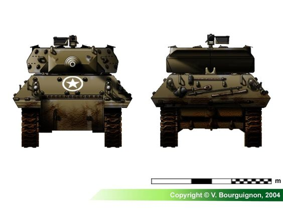 "M10 Wolverines 3"" Gun Motor Carriage (late production model)"