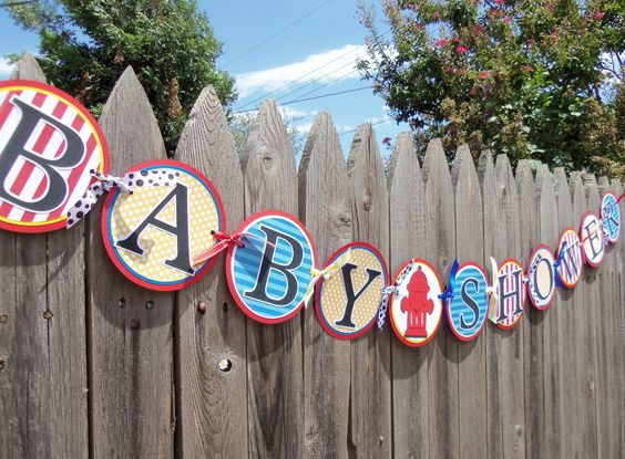 firefighter baby showers firefighter baby and baby shower banners on