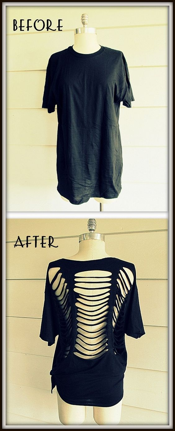Wobisobi: No Sew, Ladder Tee-Shirt, DIY.