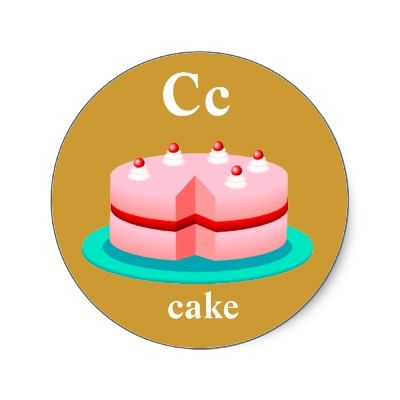 S Alphabet Cake Images : Letter c, Alphabet stickers and Pink cakes on Pinterest