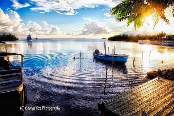 Sunset in a Fishing Village, La Parguera, Puerto Rico...