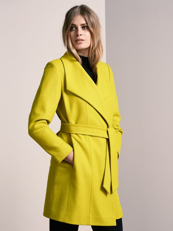 A classic coat in an amazing colour.   WINDSMOORE WOOL FUNNEL WRAP available at The Bay, Canada
