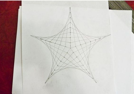 Creating Line Designs : How to create parabolic curves using straight lines