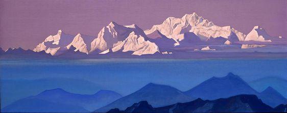 """Kanchenjunga"" by Nikolai Roerich (1935 – 1936)"