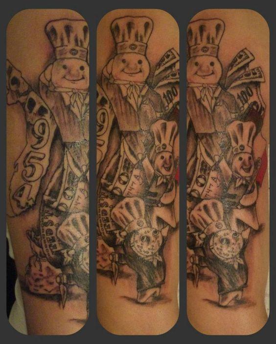 pillsbury boy tattoos doughboy dough badass fl