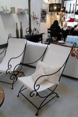 Sillones en hierro ideal para acompanar cuando hay mucha - Muebles de jardin de forja ...
