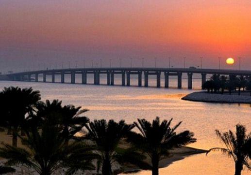 Sunset At King Fahd Causeway Bahrain Saudi Arabia Border Saudiarabia Saudi Arabia Art Life In Saudi Arabia Dammam Saudi Arabia