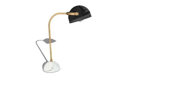 Large preview of 3D Model of Clint Desk Lamp - Antique Bronze/Marble