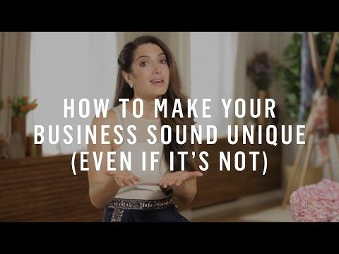 How To Make Your Business Sound Unique (Even If It's Not)