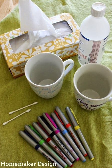 Homemaker Design: Easy Peasy Personalized Coffee Mugs
