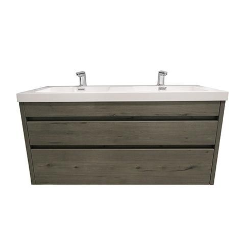 Elite Cube 1200 2 Drawer Double Basin Wall Hung Stock Vanity Top 4 Colours Vanity Double Basin Basin