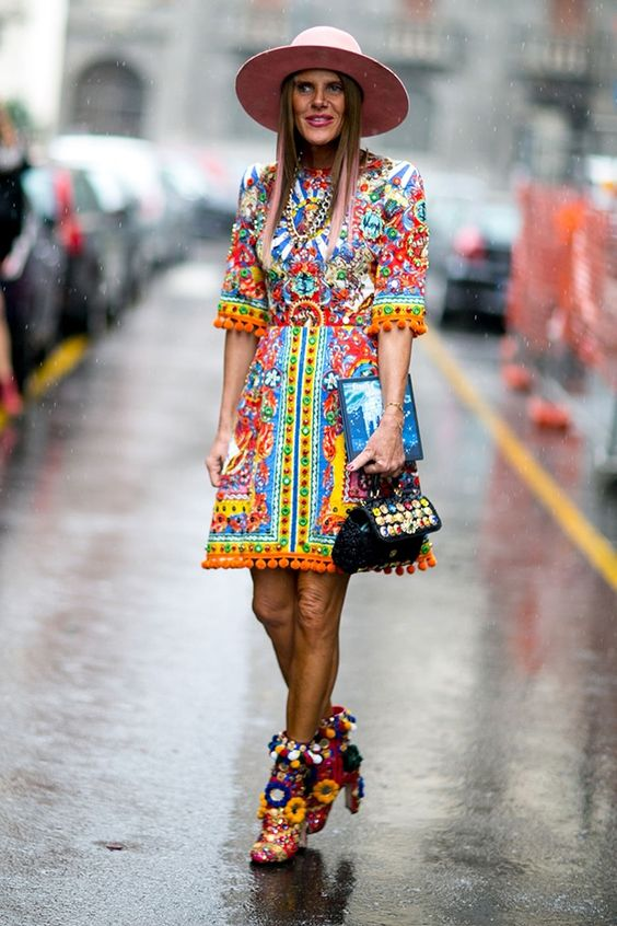 Anna Dello Russo in Dolce&Gabbana - Style roundup Milan FW16 day 5 - February 28, 2016 #StreetStyle
