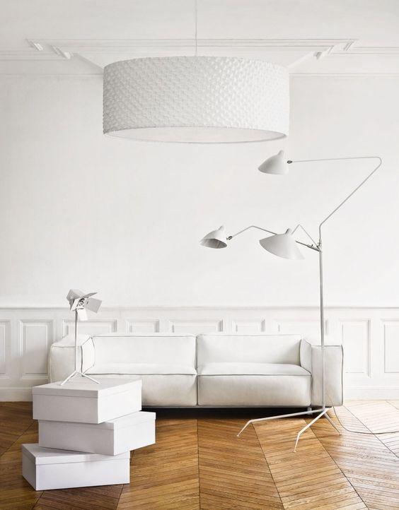 luxus wohnzimmer weiß mit parkettboden
