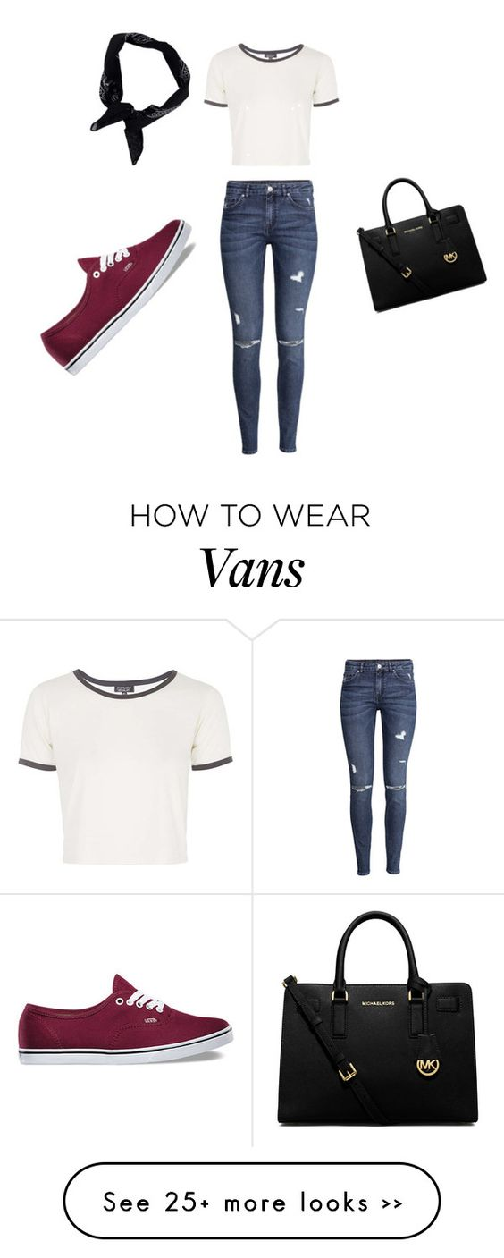 """""""Night with friends"""" by rachel-fugate on Polyvore featuring Topshop, H&M, Vans, MICHAEL Michael Kors and Boohoo"""
