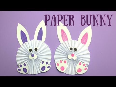 How to Make a Paper Bunny | Easy Easter Crafts for Kids - YouTube ...
