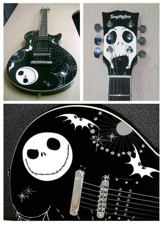 Cool Nightmare Before Christmas guitar design | Unique & Weird ...