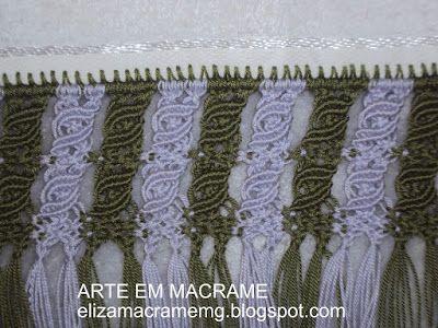 Arte em Macramê e Crochê: Barrado em macrame