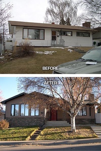 Renu exterior home renovation in the calgary community Exterior home renovations calgary