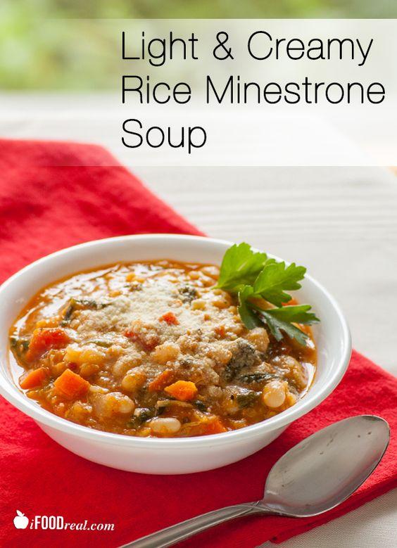 Creamy Minestrone Soup Recipe Creamy Rice, Soups and Rice