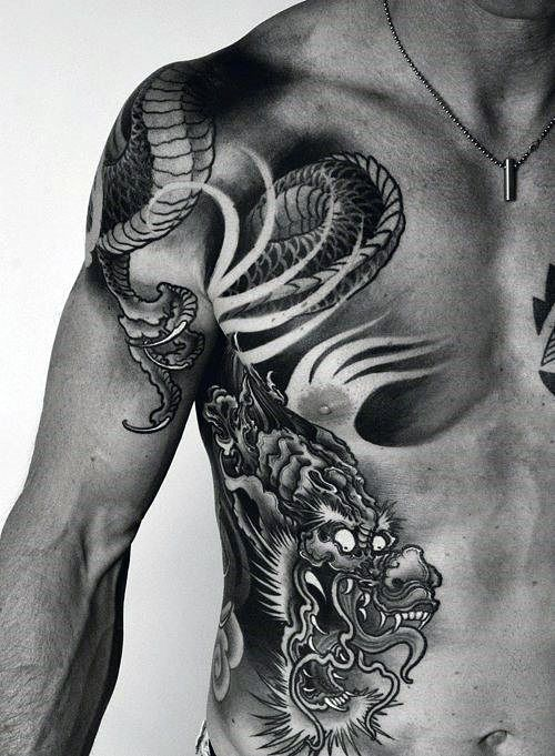 50 Chinese Dragon Tattoo Designs For Men Flaming Ink Ideas Dragon Tattoos For Men Tattoos Mens Shoulder Tattoo