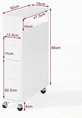 Sobuy Frg51 W Meuble De Rangement A Roulettes Wc Porte Papier
