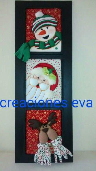 Cuadro navide o navidad pinterest labor de retales for Cuadros de navidad