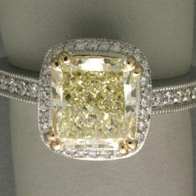 vintage yellow diamond engagement ring: