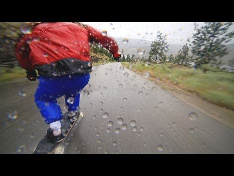 Longboarding In The Rain Should Be An Extreme Sport