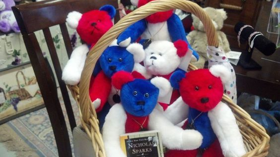 Freedom Teddy Bears Red, White and Blue Limited/ Safe Haven Movie. $175.00, via Etsy.