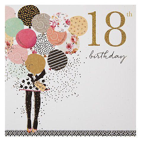 Buy Portfolio Balloons 18th Birthday Card Online at johnlewis.com
