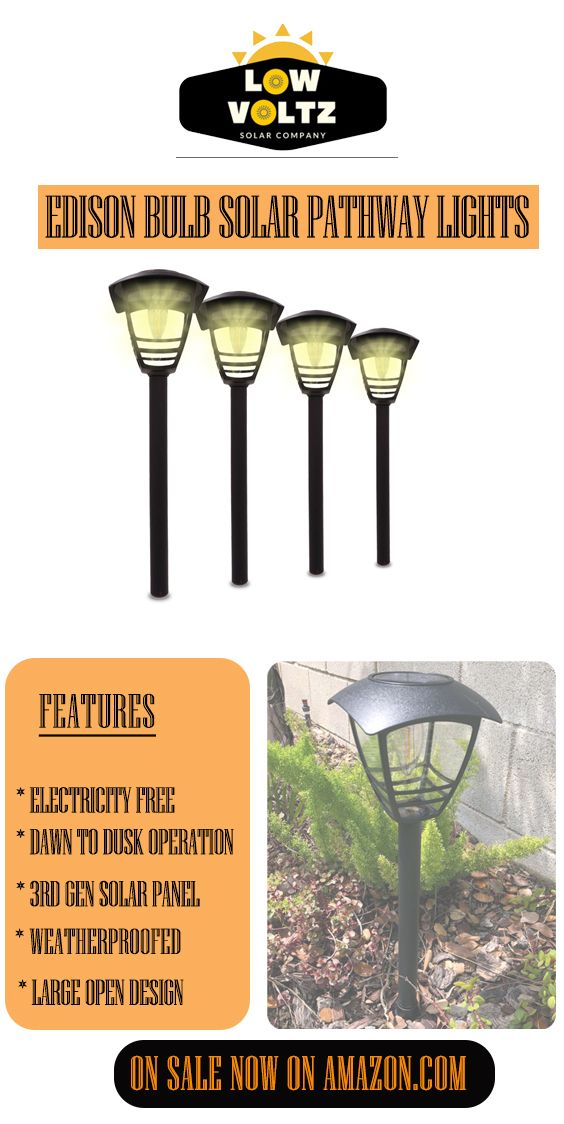 Modern Edison Bulb Solar Path Lights Large Open Design 3rd Generation High Efficiency Solar Panel Weather Solar Pathway Lights Solar Lights Garden Path Lights