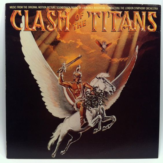 Clash of the Titans Movie Soundtrack ost Vinyl Record LP 1981 Pegasus Medusa by vintagebaronrecords on Etsy
