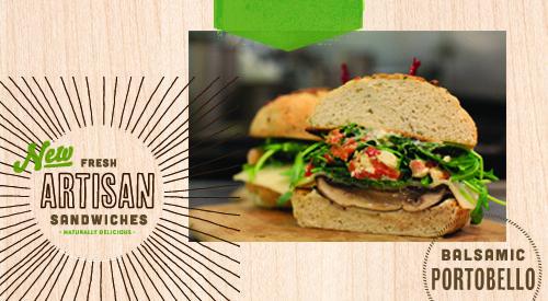 Balsamic Portobello with Arugula Salad Sandwich