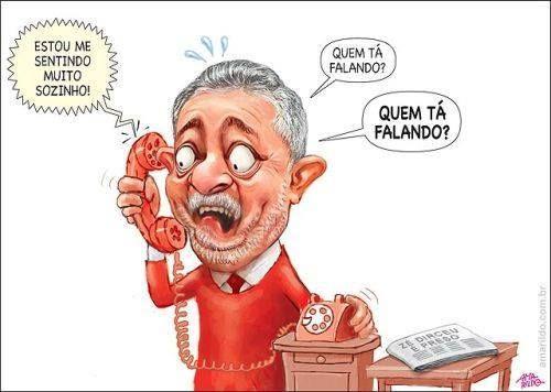 Blog do Poyastro: CHARGE DO AMARILDO - Lula recebendo ligação...