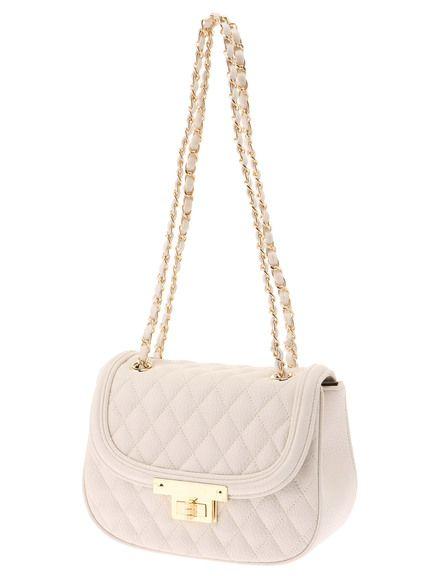 Delyle NOIR(デイライルノアール) |キルティングクラッチ( オフホワイト系) white quilted bag