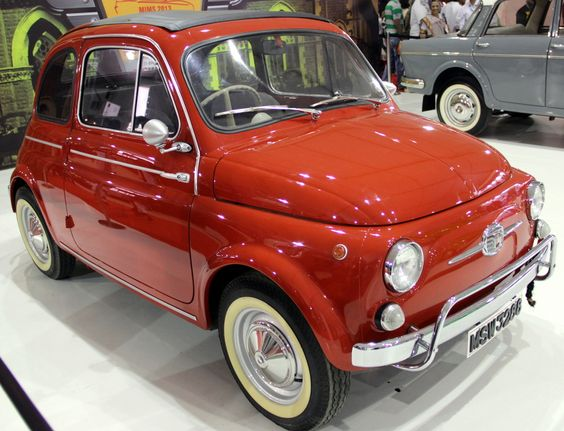 1961 FIAT 500 on display at the Mumbai International Motor show in Mumbai