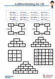#Additionsaufgaben bis #100 #Arbeitsblaetter / Übungen / Aufgaben für den Mathematikunterricht -  #Grundschule.  Additionsaufgaben bis 100, zum Vertiefen der Rechenfertigkeit.  10 Arbeitsblätter + 10 Lösungsblätter