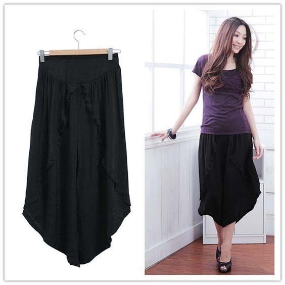frete grátis roupas tamanho vestuário ol tornozelo elegante vestido casual calças de comprimento tamanho grande US $24.10