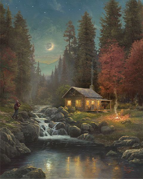 Away From It All by Thomas Kinkade: