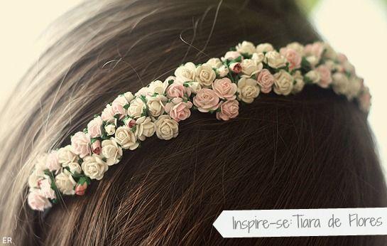 Coração de Mármore: Tiara de Flores