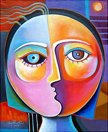 Picasso Half Face Painting