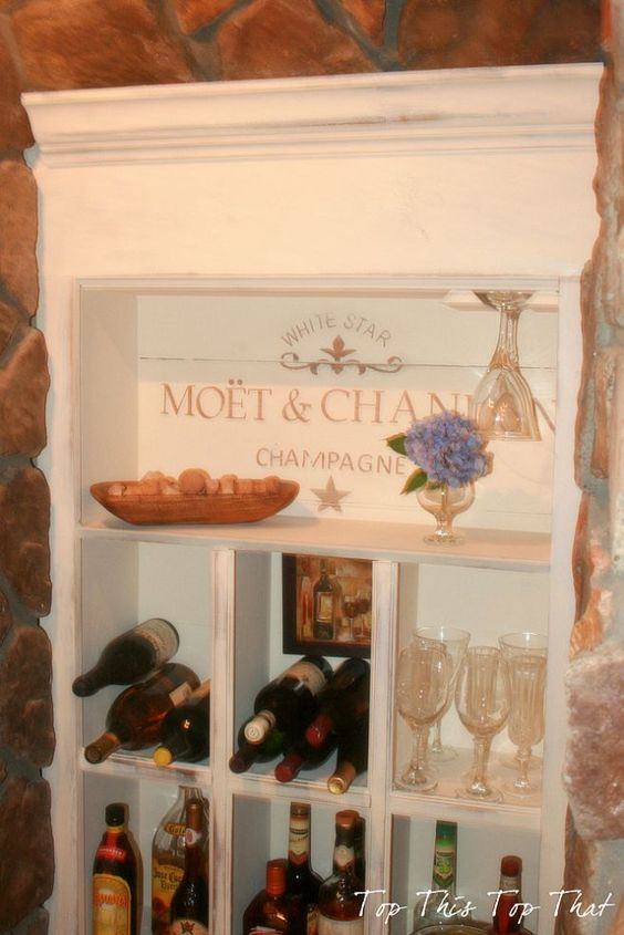 Creating a Wine Nook :: Hometalk...What a GREAT IDEA!