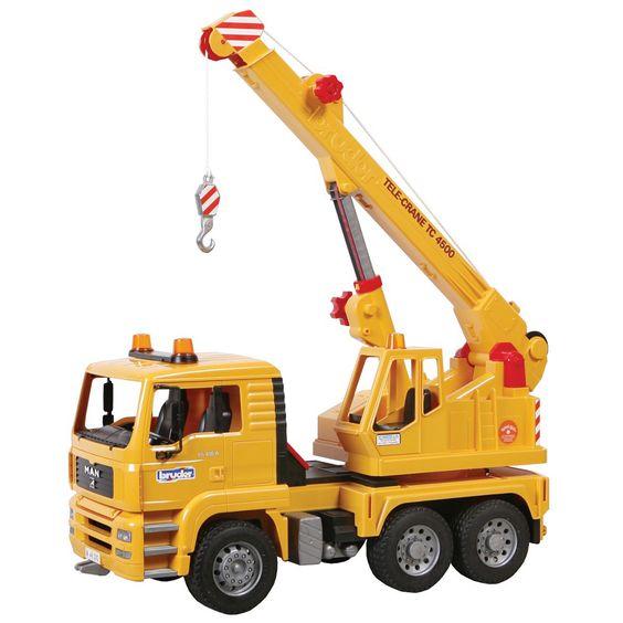 Bruder MAN TGA Crane Truck 4500 02754 by Bruder Toys for ...