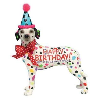 Dalmatian Birthday Figurine - Furrypartners: