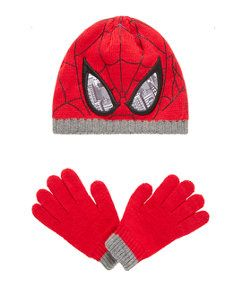 View details of Marvel Ultimate Spiderman Hat and Mittens Set