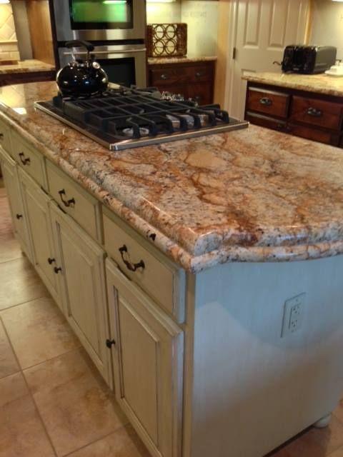 Kitchen Island Granite Edges solarius granite - kitchen island - rustic home remodel - laminate
