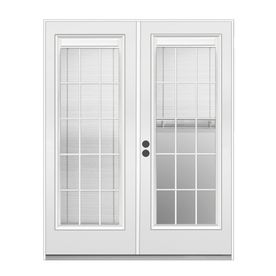 Reliabilt 71 1 2 in triple pane blinds between glass steel - Outswing exterior french doors with blinds ...