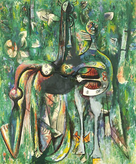 Wifredo Lam - Le Sombre Malembo, Dieu du carrefour, 1943
